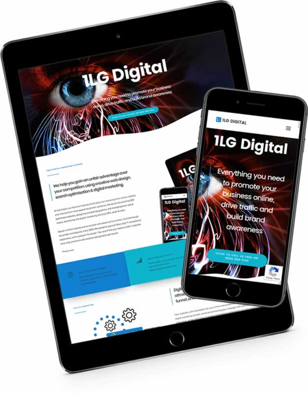 web design company 1LG Digital website mock-up