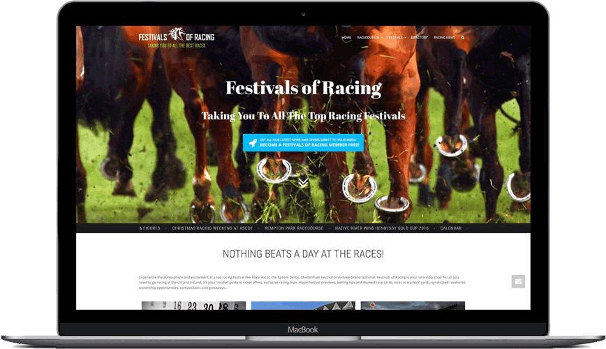 Festivals of Racing website ranks #1 on Google for top horse racing festivals